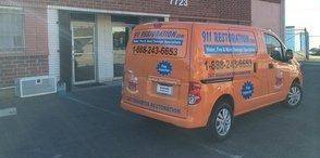 Roof Damage Restoration Van At Headquarters