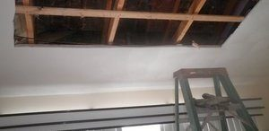 Ceiling Restoration In Progress After Major Leak